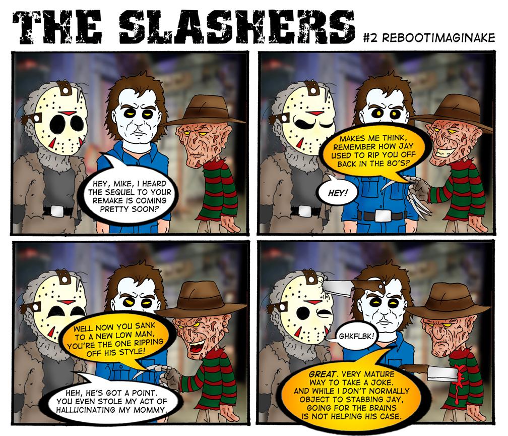fred   The Slas... Jason Vs Michael Myers Comic